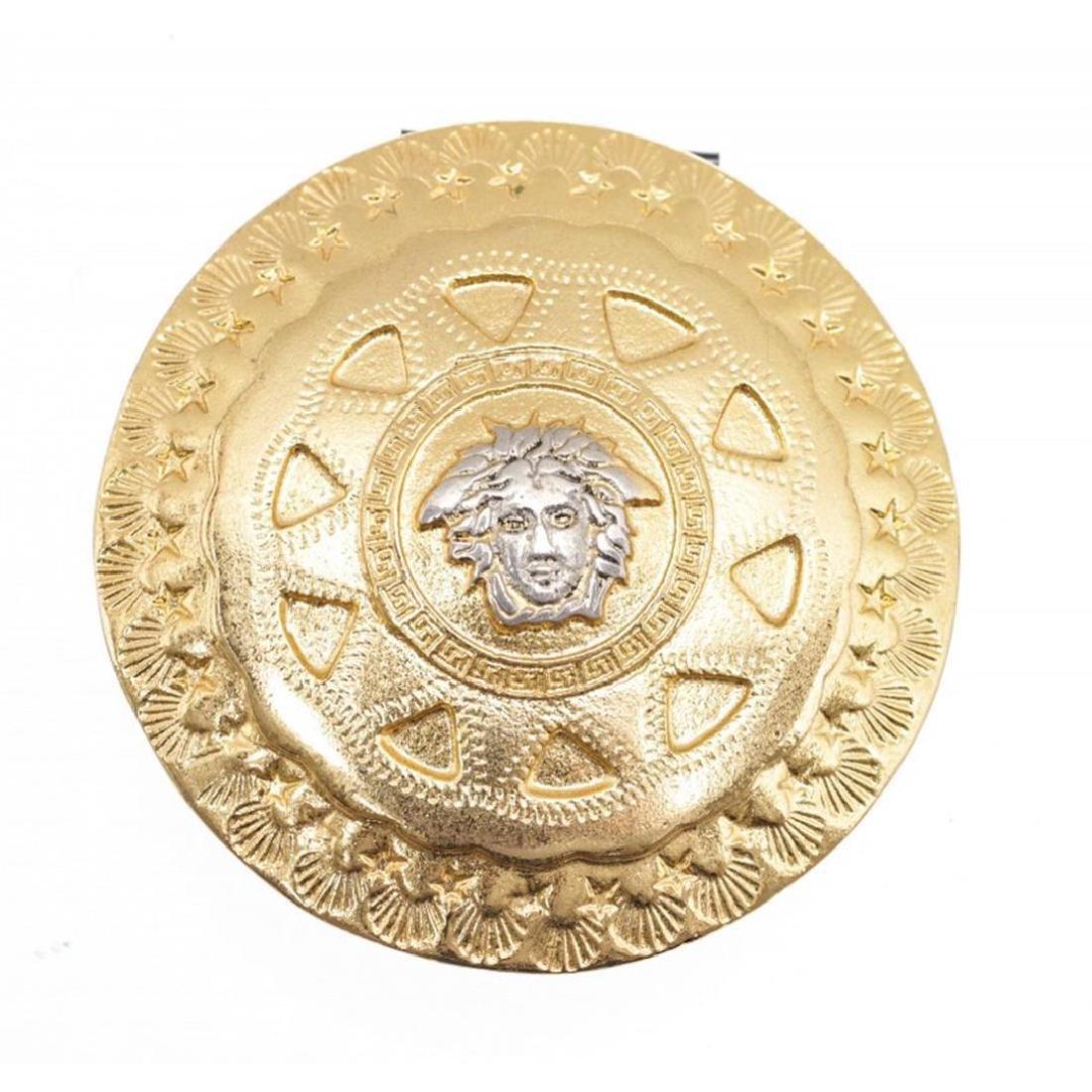 Gianni Versace Vintage Gold Medusa Hair Accessory Clip