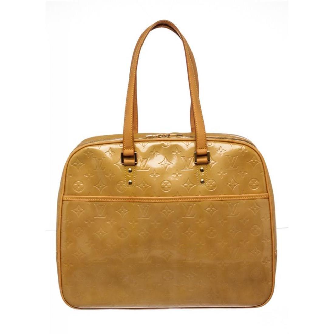 Louis Vuitton Yellow Vernis Leather Monogram Sutton