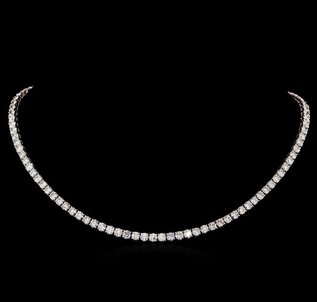 18KT White Gold 21.08 ctw Diamond Necklace
