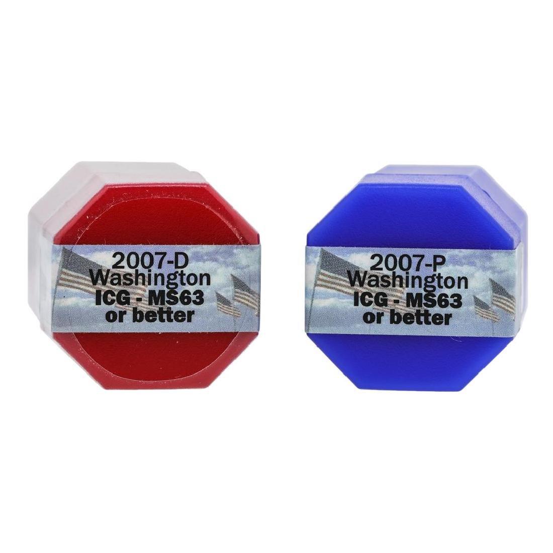 Rolls of 2007-D & 2007-P $1 George Washington