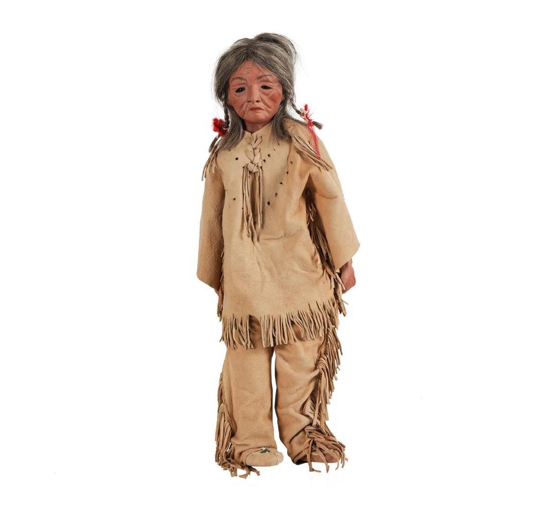 J. Turner - Set of Two Elderly Native American Dolls