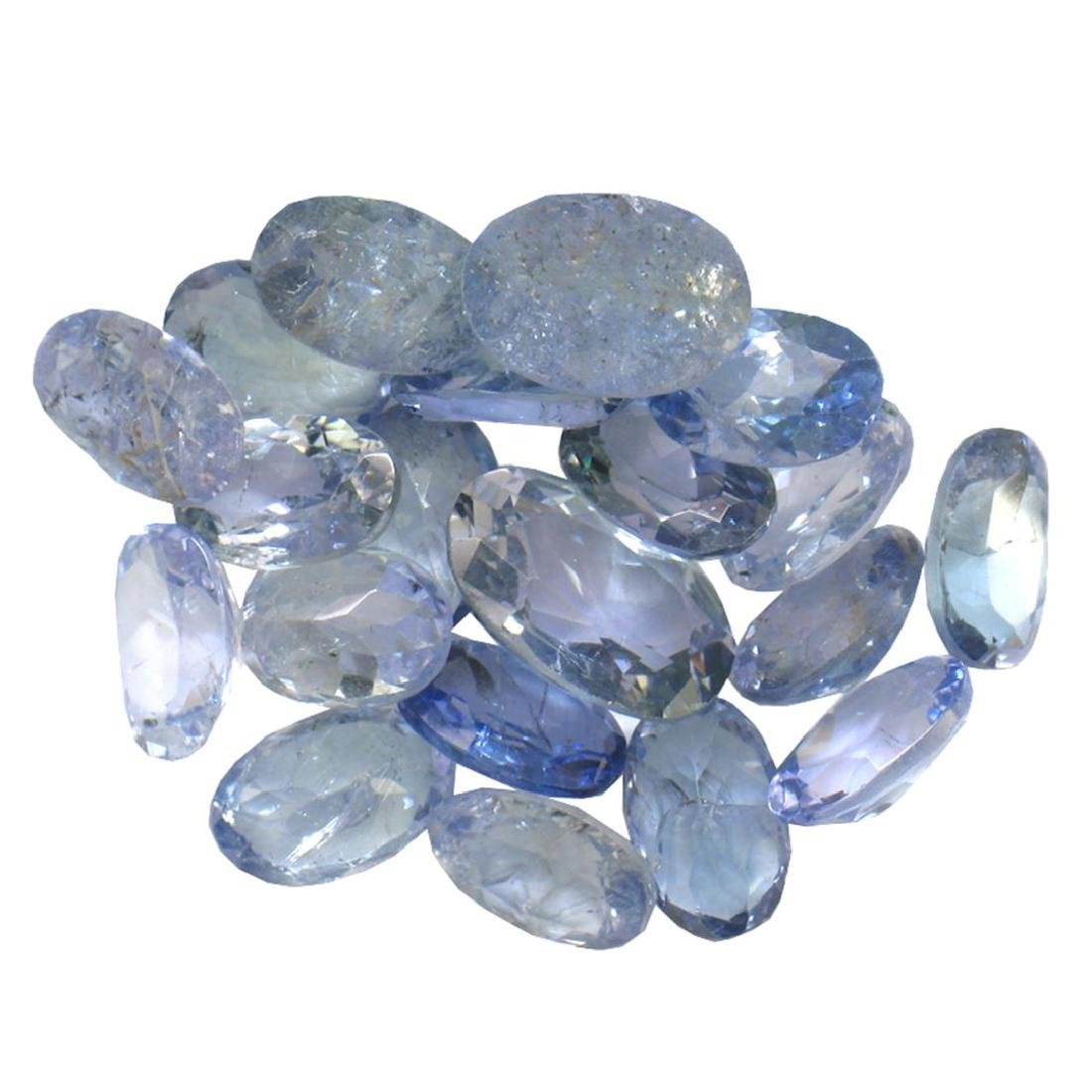 11 ctw Oval Mixed Tanzanite Parcel