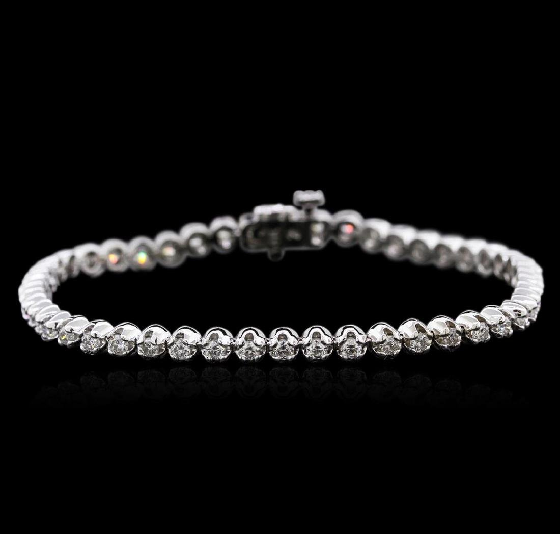 14KT White Gold 2.01 ctw Diamond Tennis Bracelet