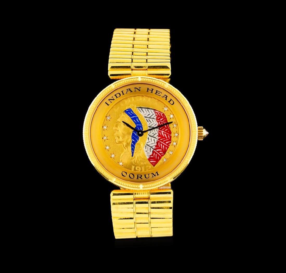 Corum Five Dollar Indian Head 18KT Yellow Gold Watch
