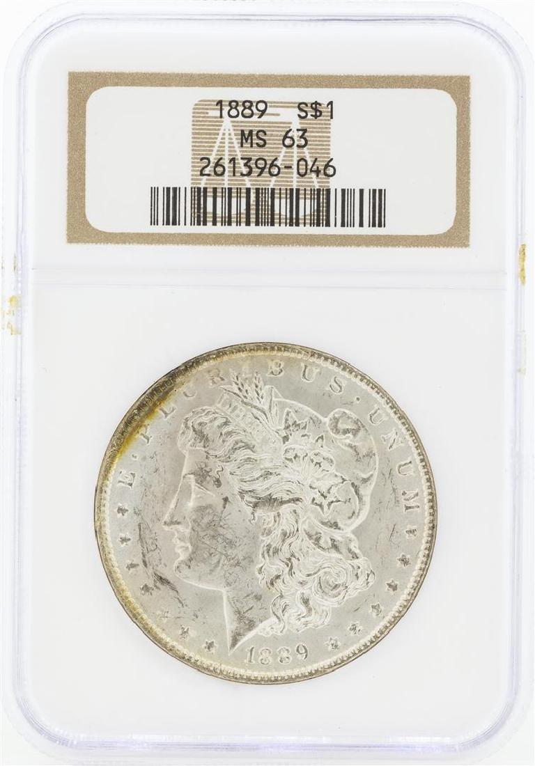 1889 MS63 NGC Morgan Silver Dollar