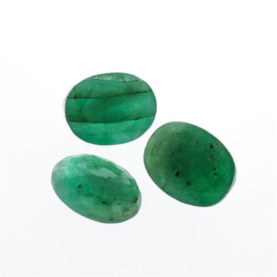 4.45 cts. Oval Cut Natural Emerald Parcel
