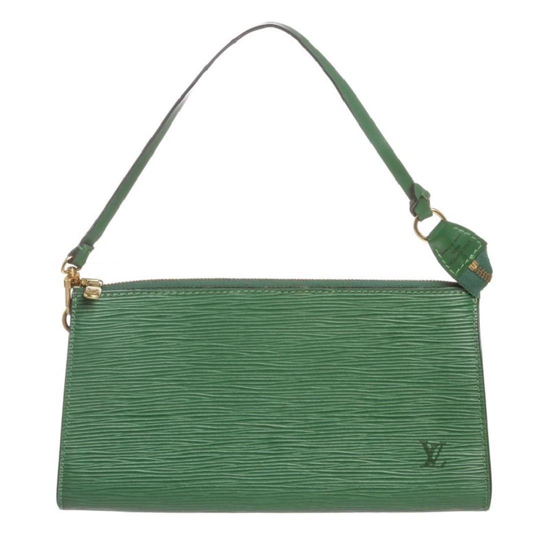 Louis Vuitton Green Epi Leather Pochette Shoulder Bag