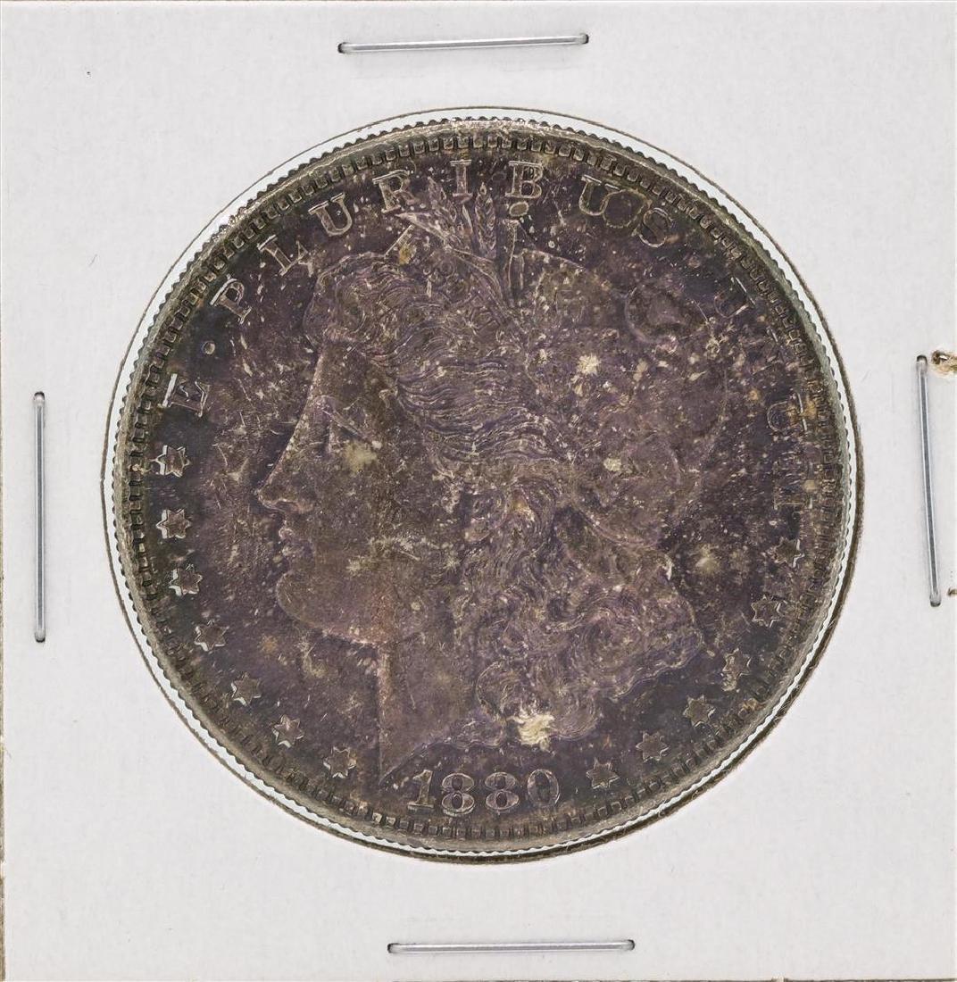 1880-S $1 Morgan Silver Dollar Coin Great Toning