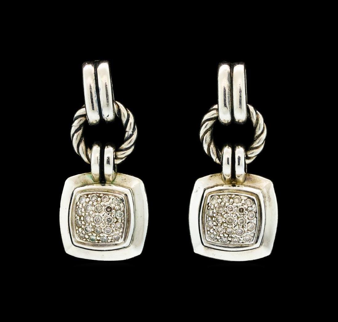 David Yurman Dangling Diamond Earrings - Sterling