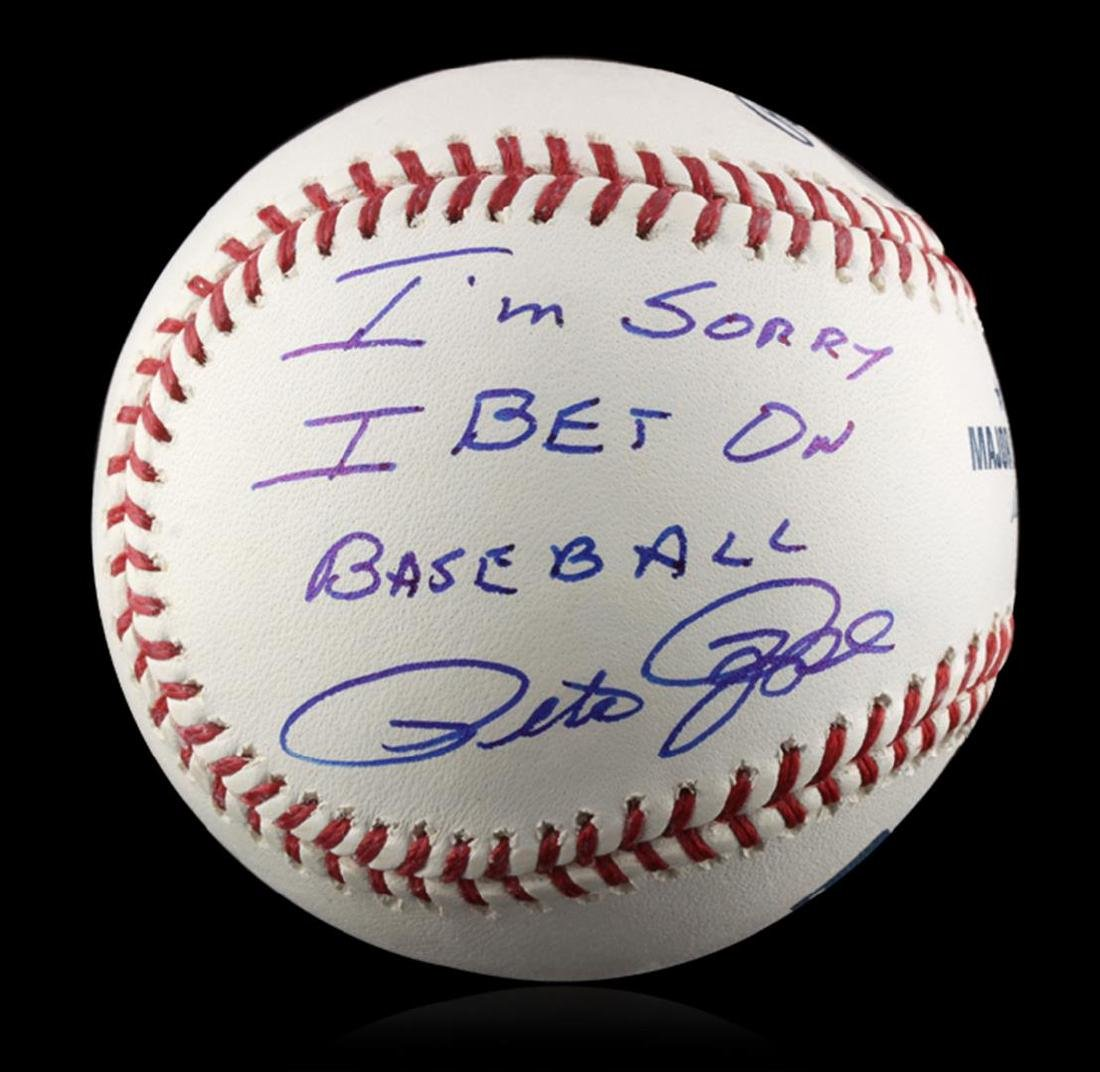 "Autographed Pete Rose ""I'm Sorry"" Baseball PSA"
