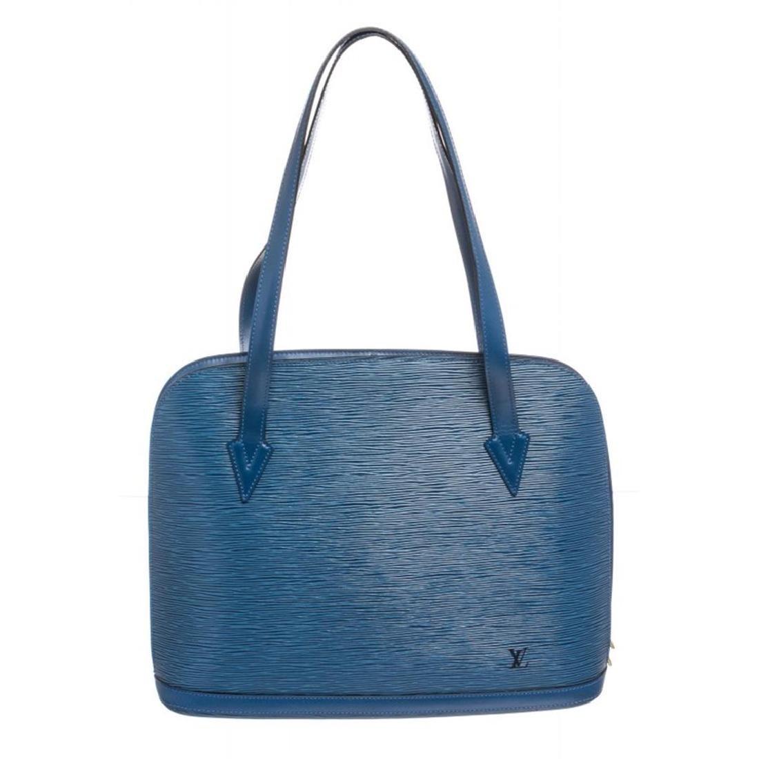 Louis Vuitton Blue Epi Leather Lussac Shoulder Bag