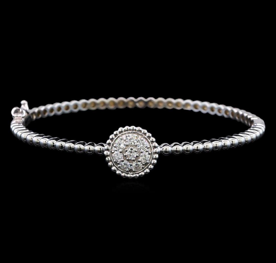 0.60 ctw Diamond Bracelet - 14KT White Gold