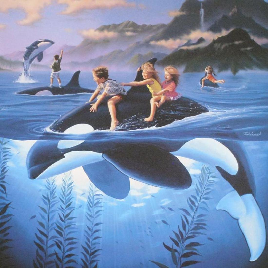 Whale Rides by Wyland & Warren - 2
