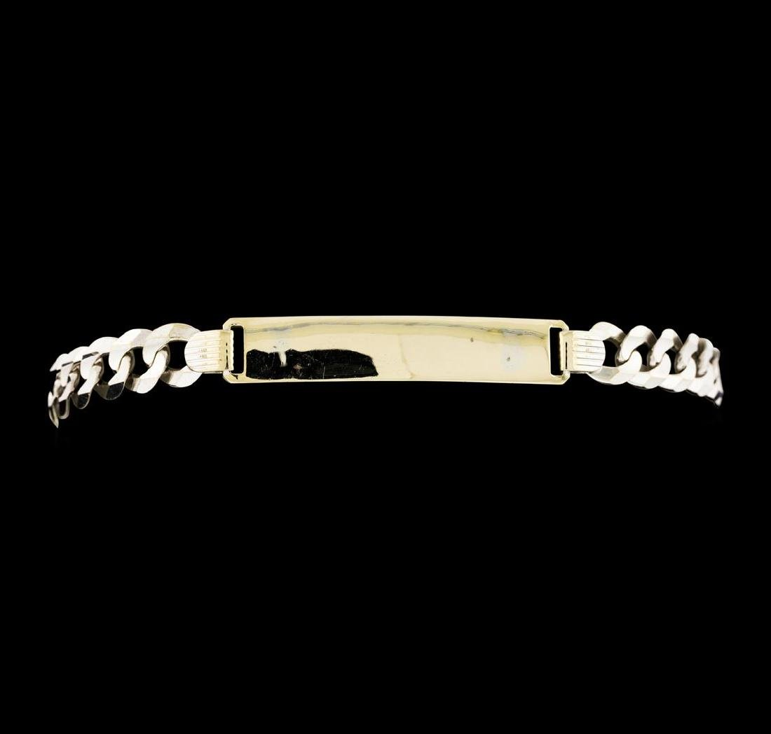 14KT White Gold Chain Link Bracelet