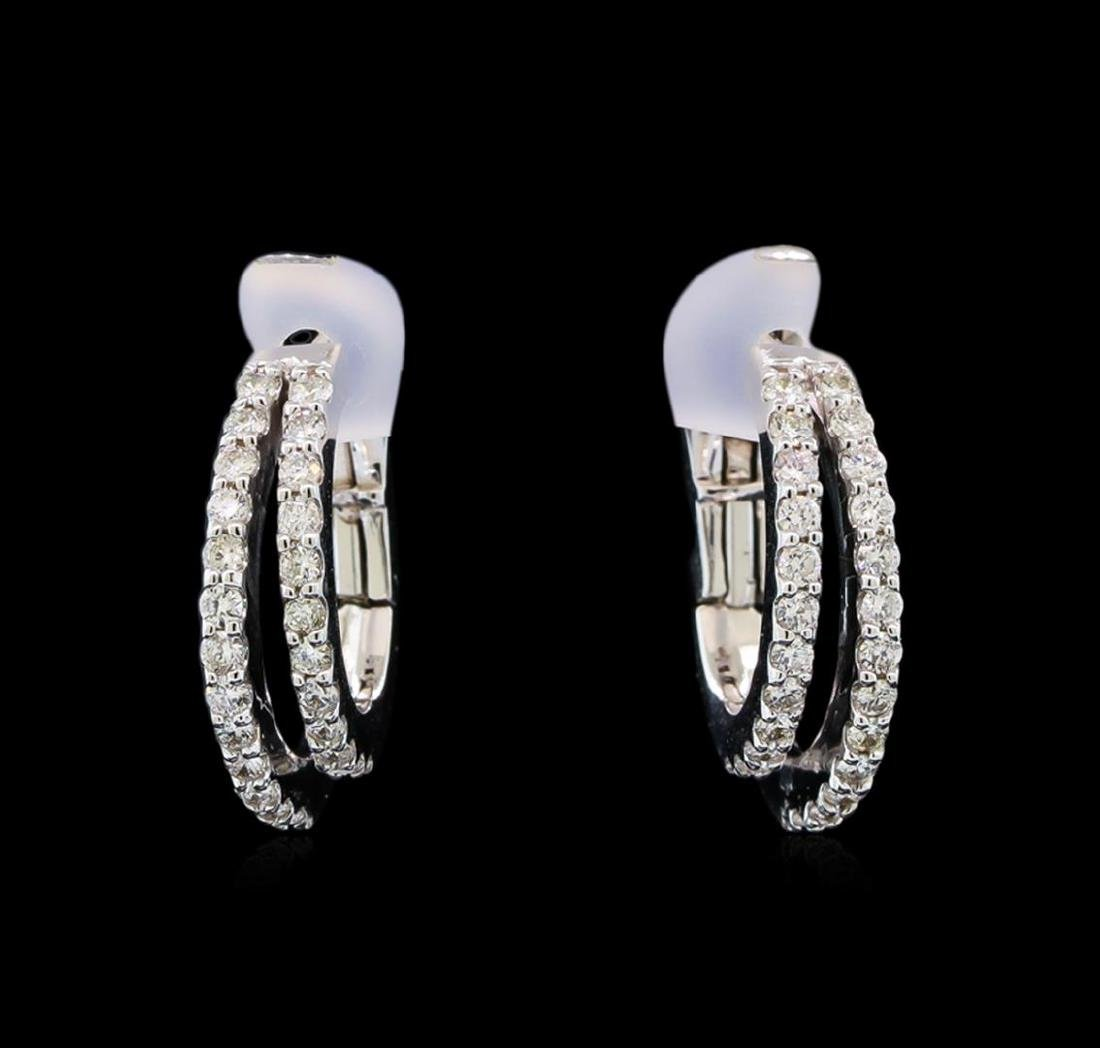 0.57 ctw Diamond Earrings - 14KT White Gold