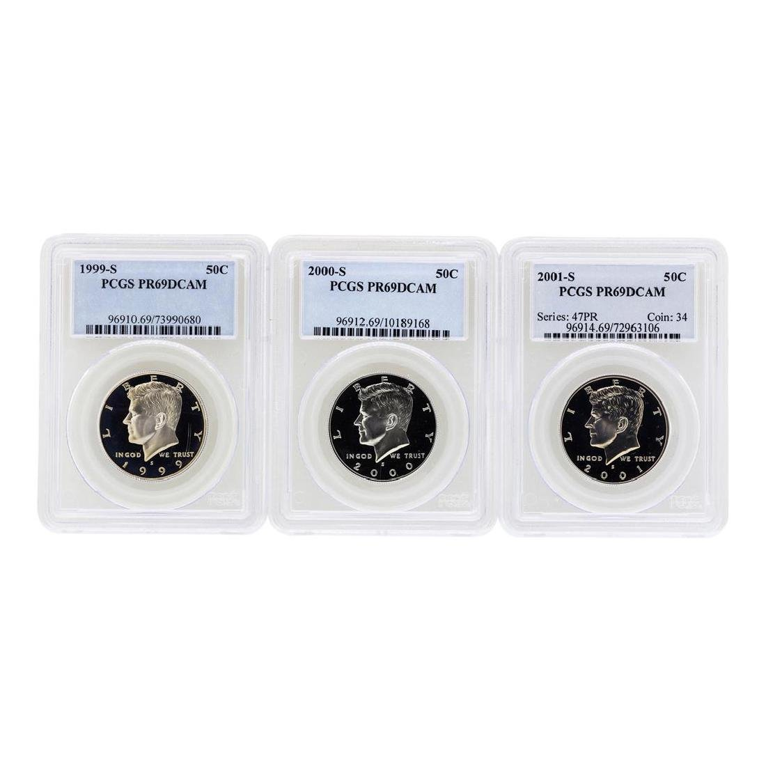 1999-S to 2001-S Kennedy Half Dollar Coins PCGS