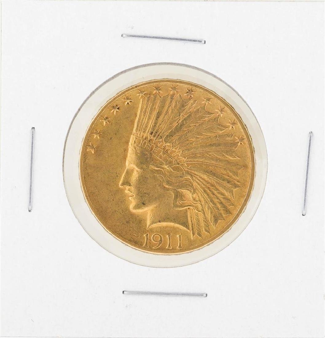 1911 $10 Indian Head Gold Coin XF