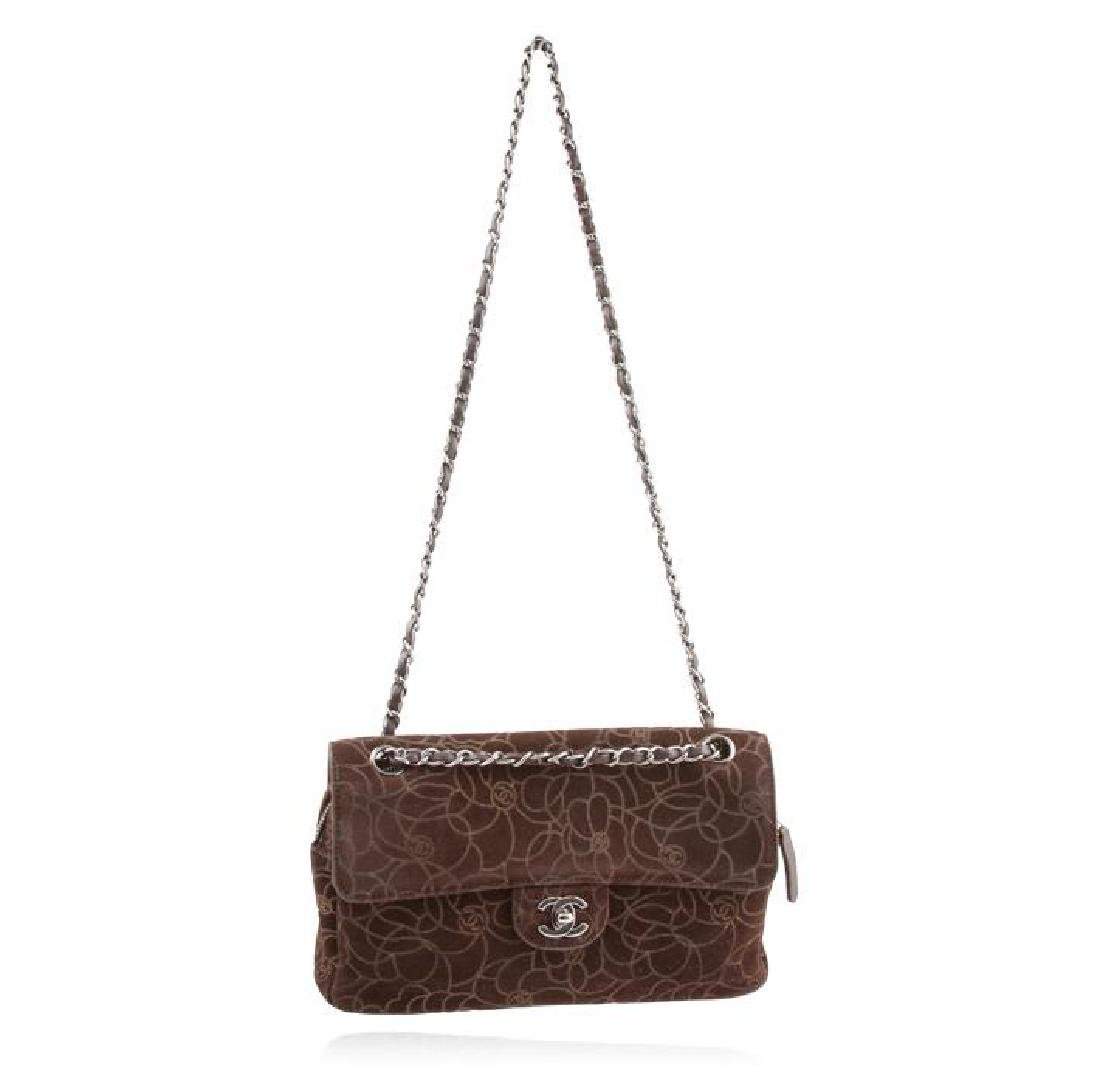 Chanel Brown Suede Maxi Flap Bag