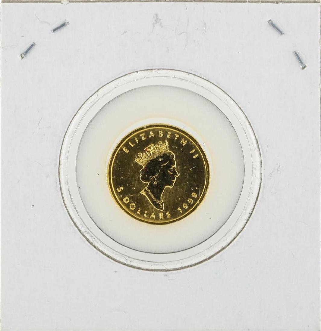 1999 Canada Maple 1/10 oz Fine 9999 Gold Coin