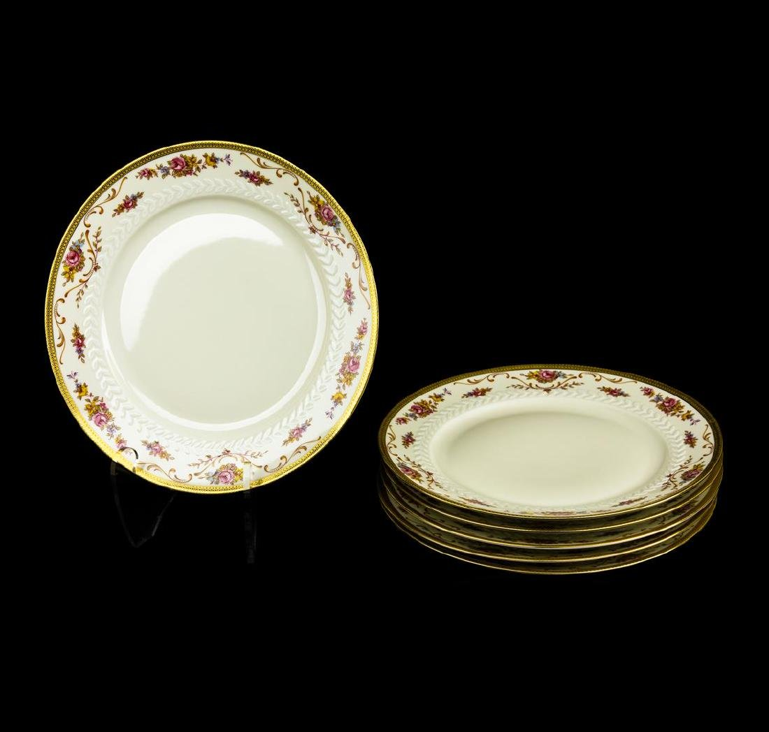 TIRSCHENREUTH Dinner SERVICE FOR 6  china Pink roses,