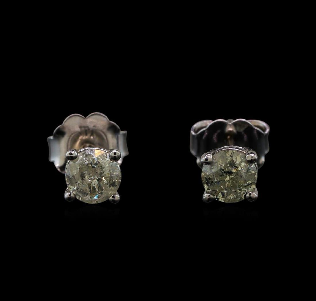 14KT White Gold 0.55 ctw Diamond Stud Earrings