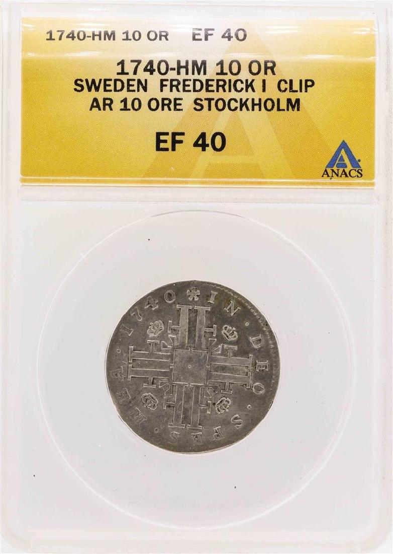 1740-HM Sweden Frederick I Clip AR 10 Ore Stockholm