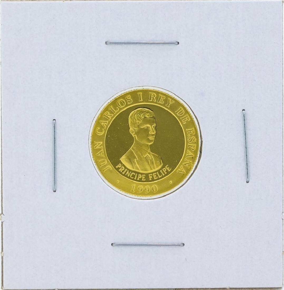 1990 Spain 10000 Pesetas Barcelona Olympics Gold Coin