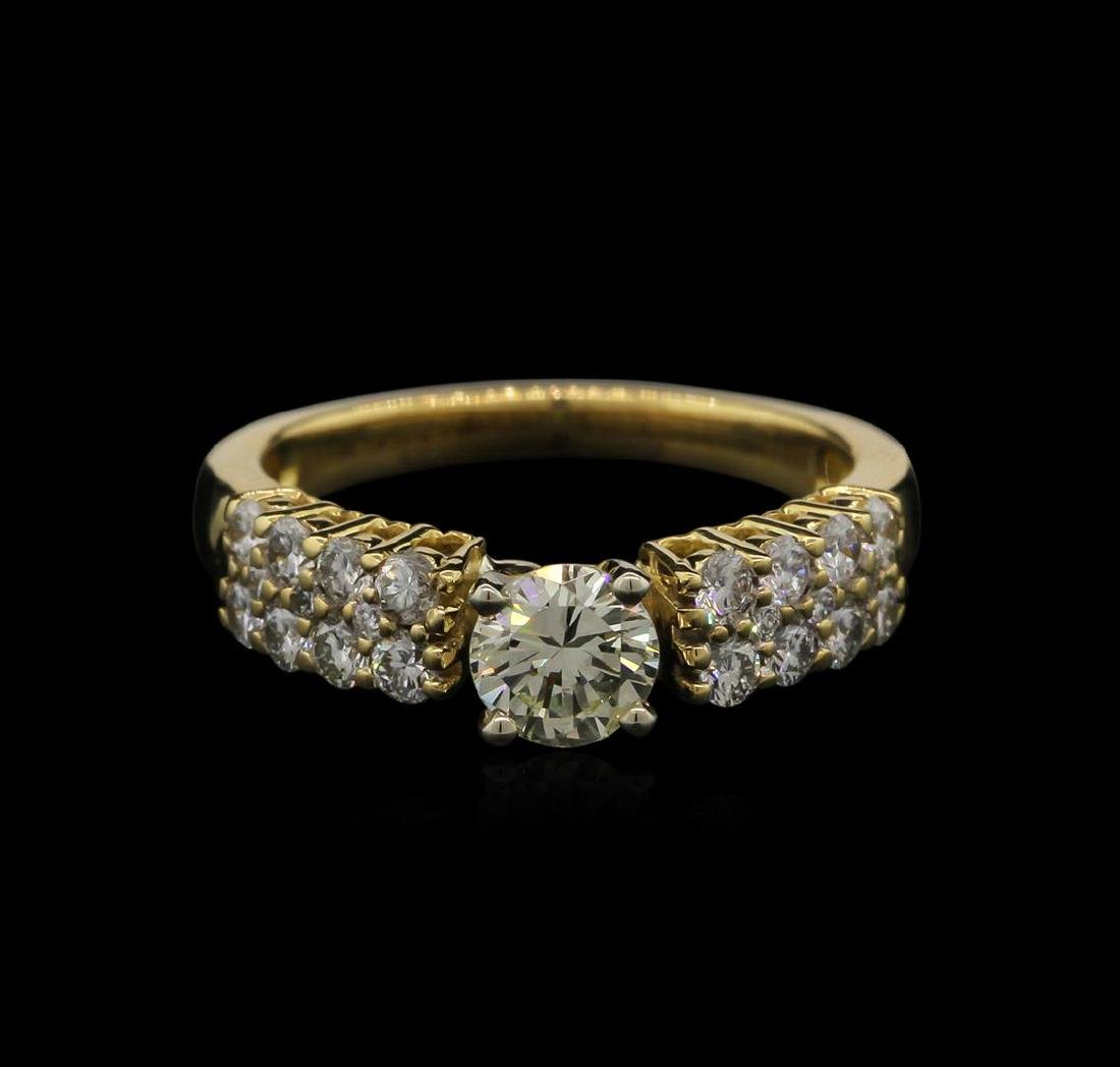 0.98 ctw Diamond Ring - 18KT Yellow Gold - 2