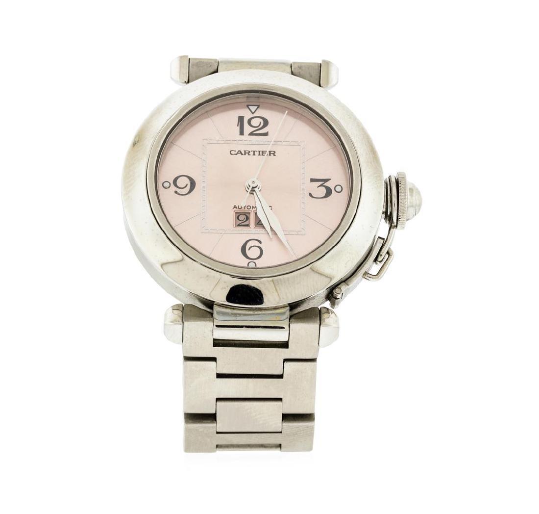 Cartier Stainless Steel Pasha C Big Date Watch