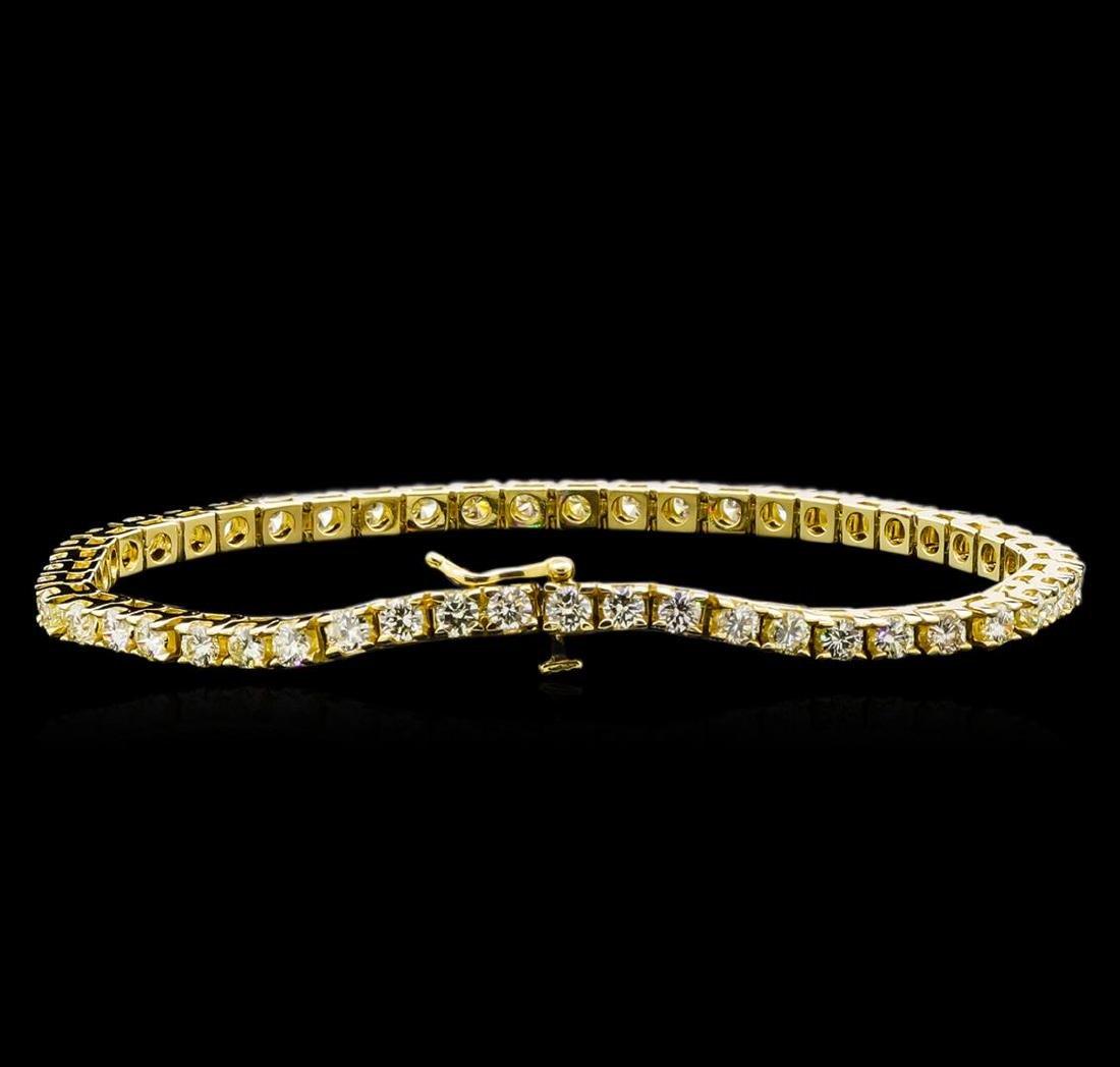 4.00 ctw Diamond Tennis Bracelet - 14KT Yellow Gold - 2