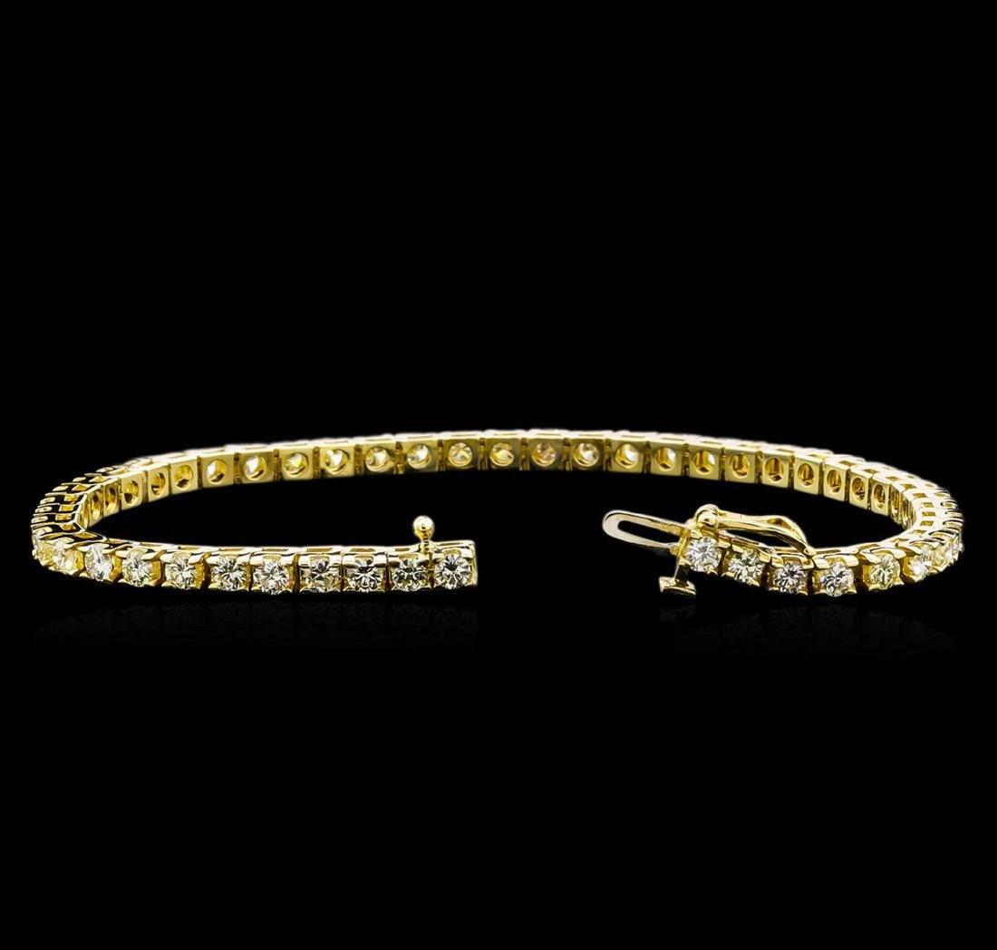 4.00 ctw Diamond Tennis Bracelet - 14KT Yellow Gold - 3