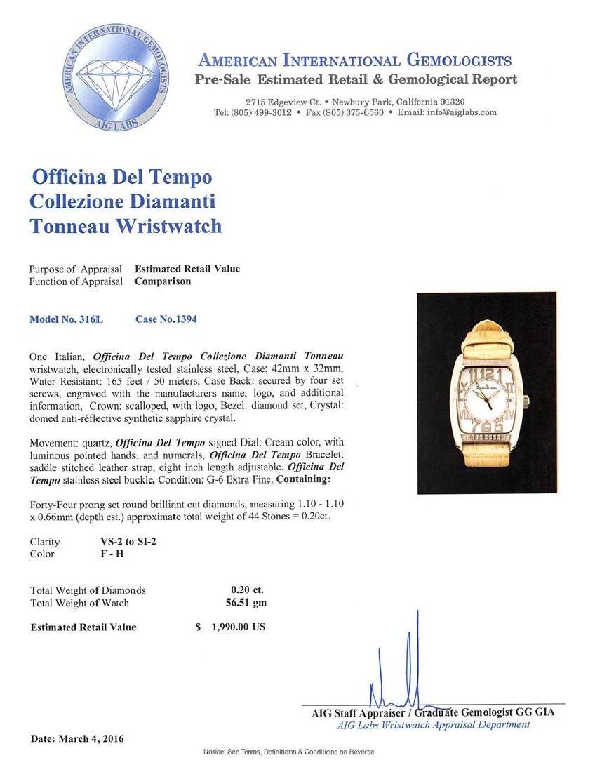 Officina Del Tempo Collezione Diamanti Tonneau Watch - 4