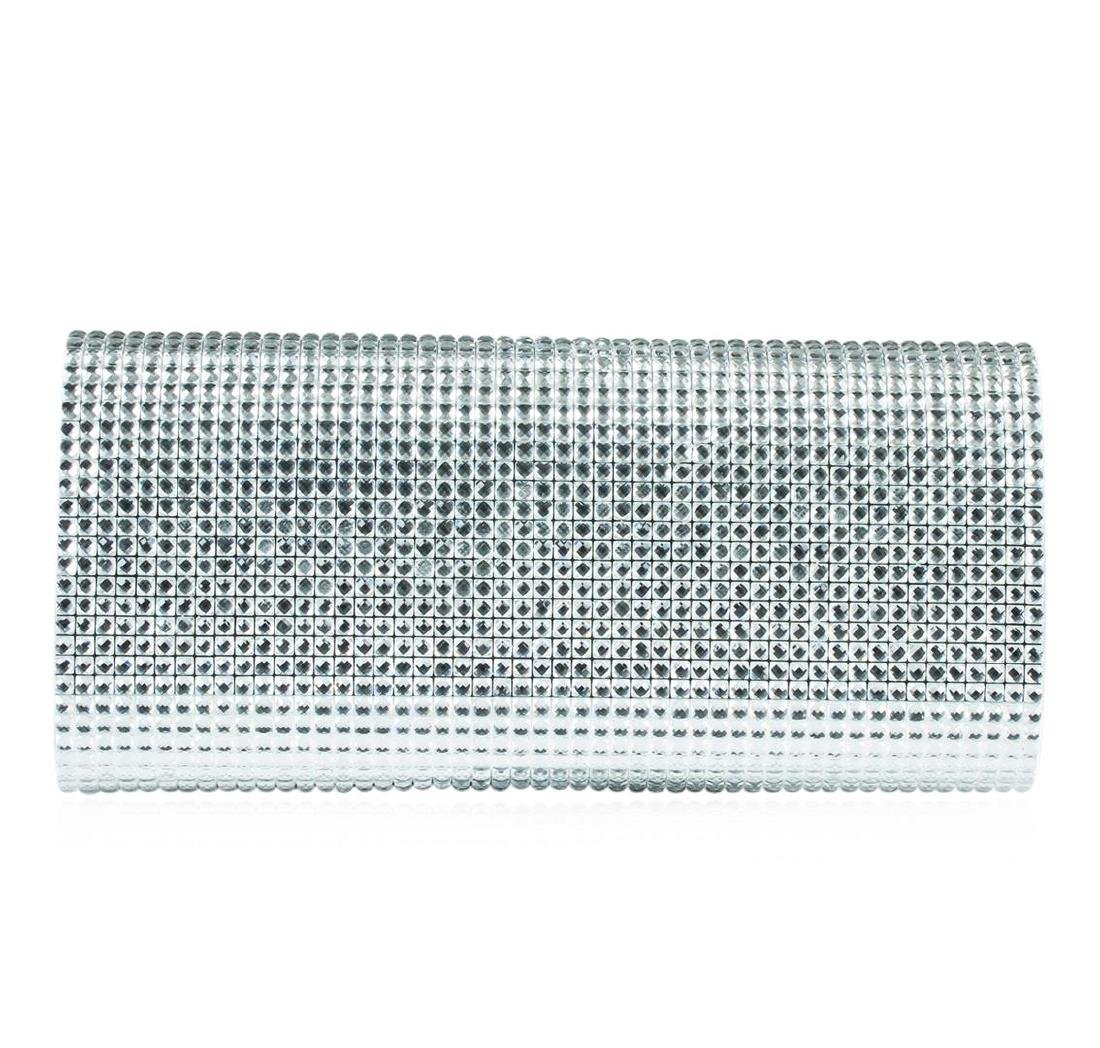 Peggy Sparly Silver Evening Clutch - 2