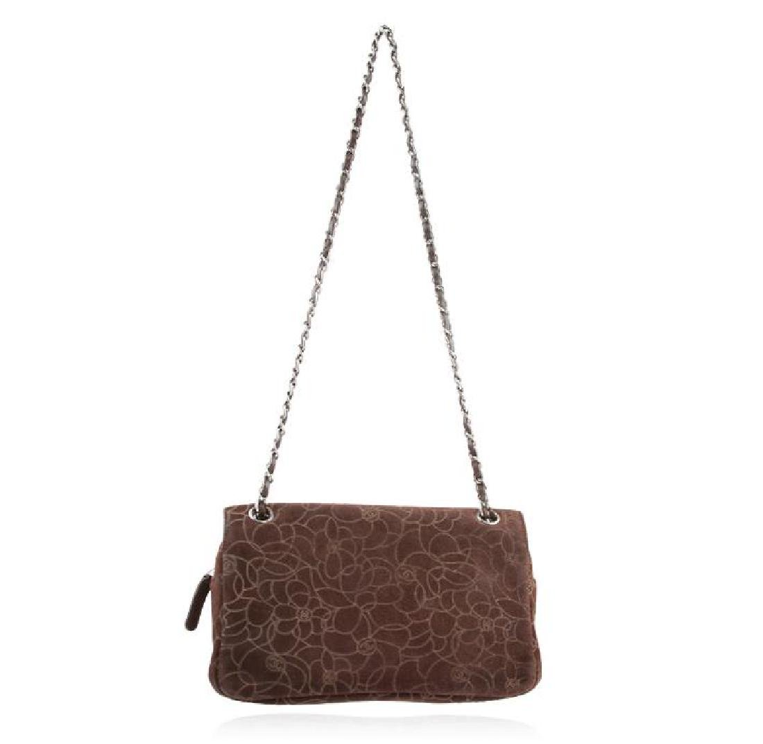 Chanel Brown Suede Maxi Flap Bag - 2