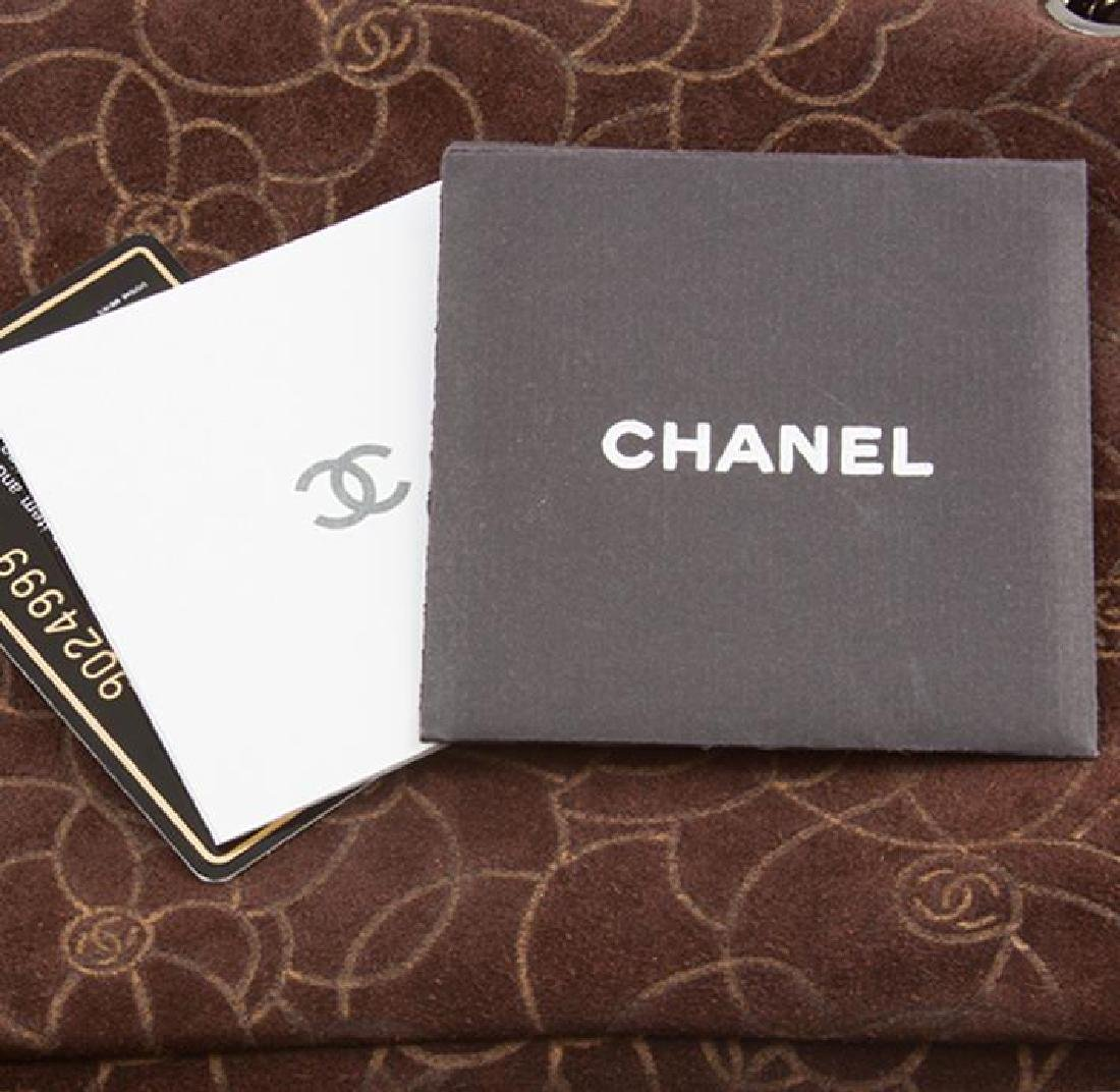 Chanel Brown Suede Maxi Flap Bag - 5
