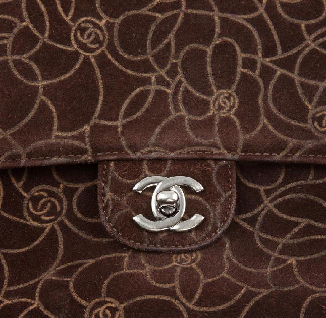 Chanel Brown Suede Maxi Flap Bag - 7