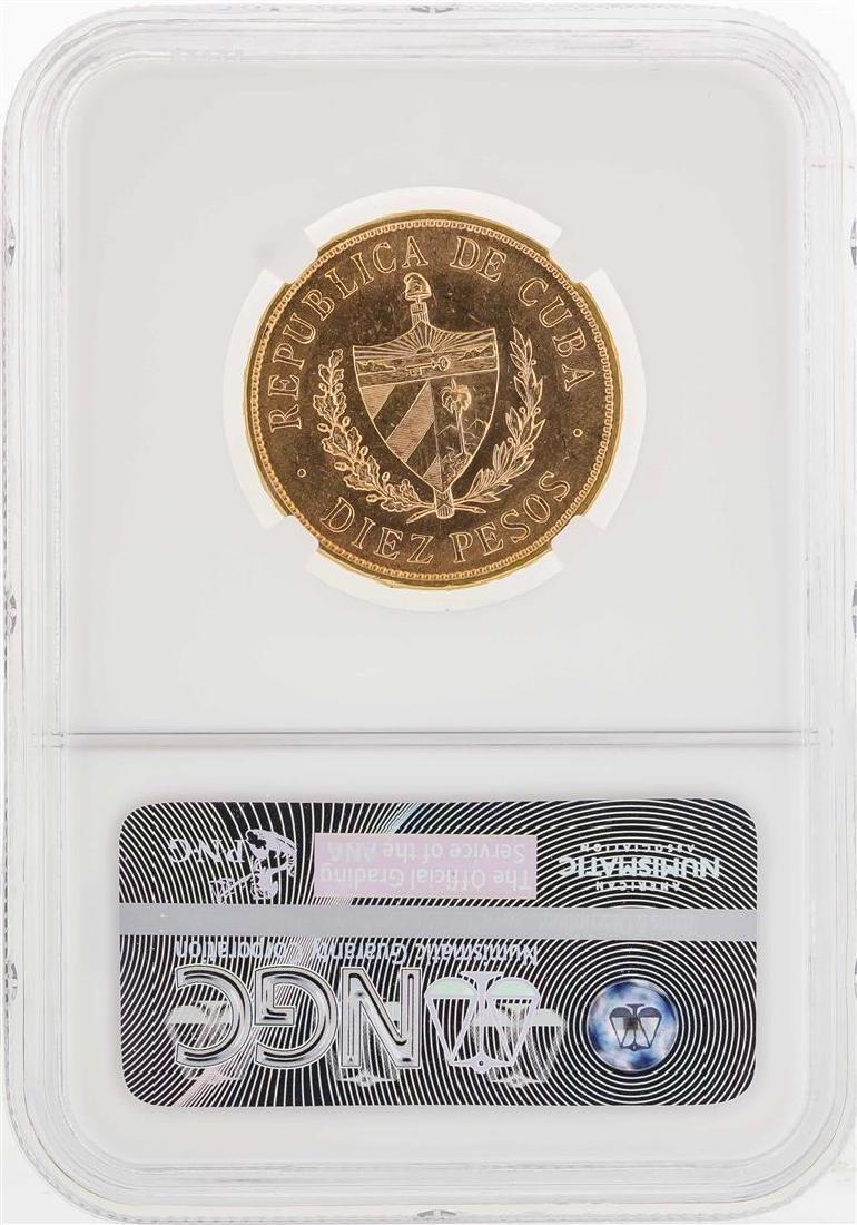 1916 Cuba 10 Gold Pesos Coin NGC MS62 - 2