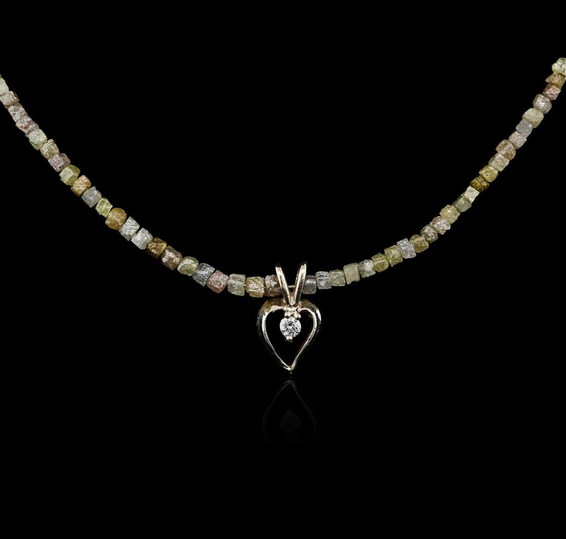 14KT Yellow Gold 32.99 ctw Rough Diamond Necklace With