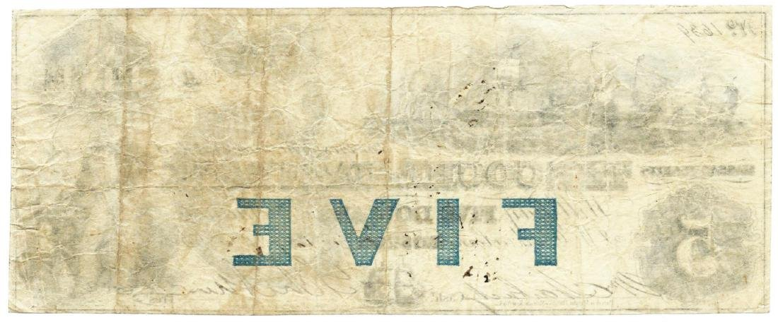 1853 $5 The Cochituate Bank, Boston, MA Obsolete Bank - 2