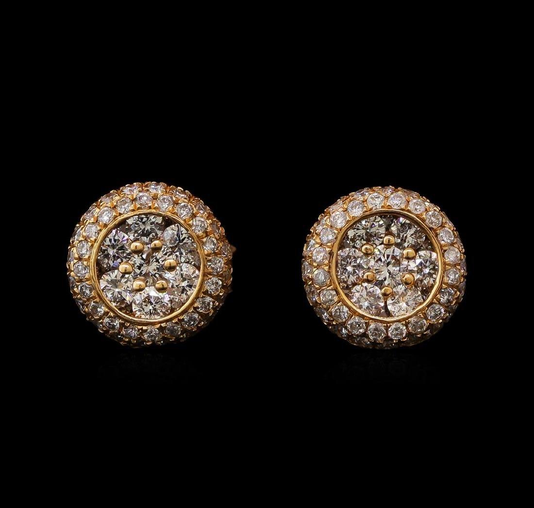 1.00 ctw Diamond Earrings - 14KT Rose Gold