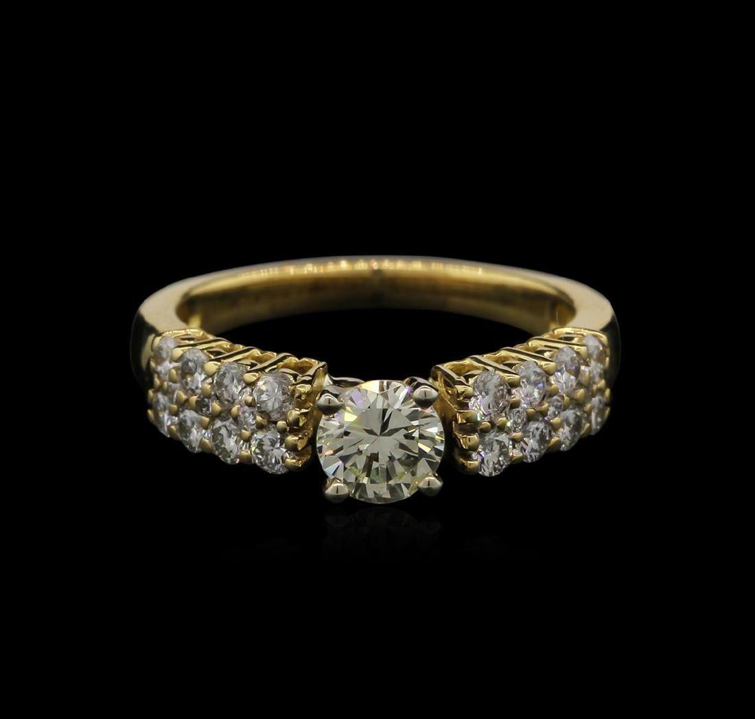 0.98 ctw Diamond Ring - 18KT Yellow Gold - 2