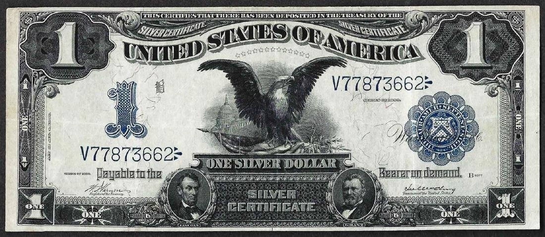 1899 $1 Black Eagle Silver Certificate Note