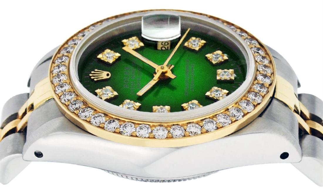 Rolex Ladies 2 Tone 14K Green Vignette VS Diamond - 4