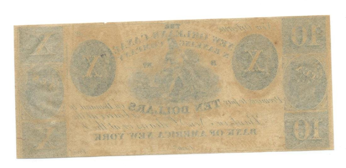 1800's $10 New Orleans Canal & Banking Co.,New Orleans - 2