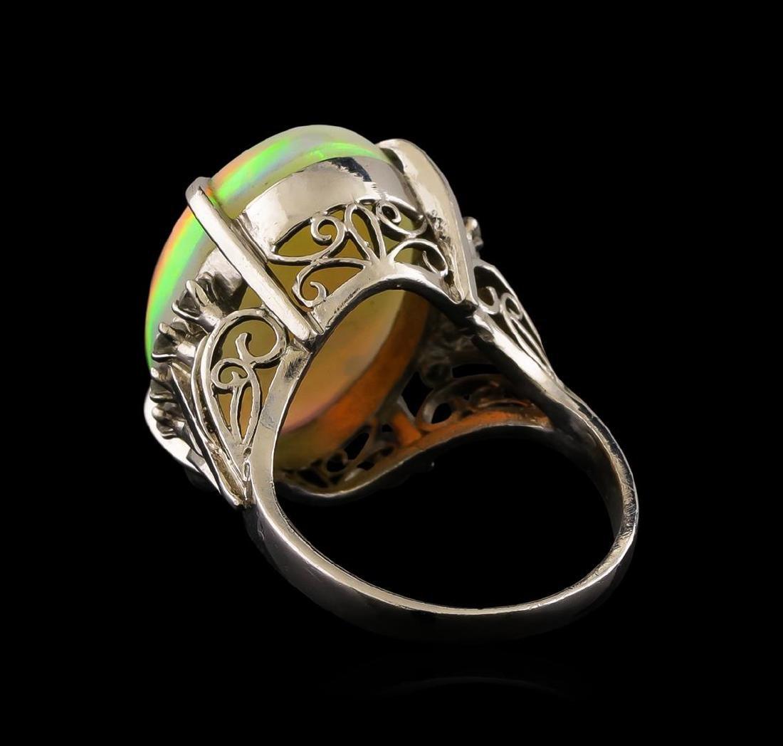 8.26 ctw Opal and Diamond Ring - Platinum - 3