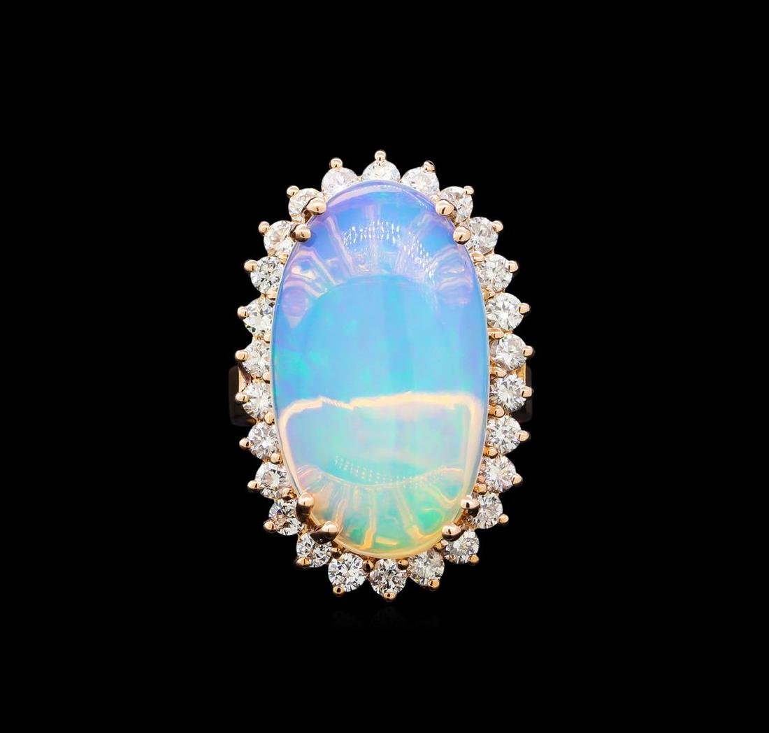 6.91 ctw Opal and Diamond Ring - 2