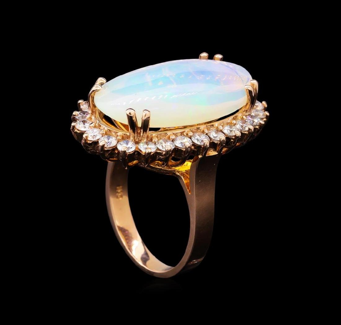 6.91 ctw Opal and Diamond Ring - 4