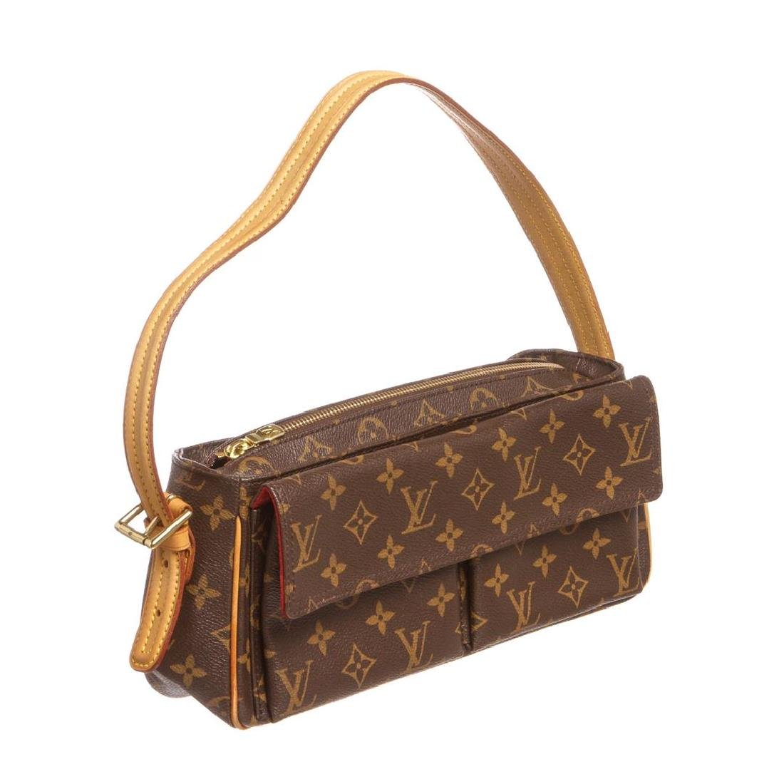 Louis Vuitton Monogram Canvas Leather Viva Cite MM Bag - 2
