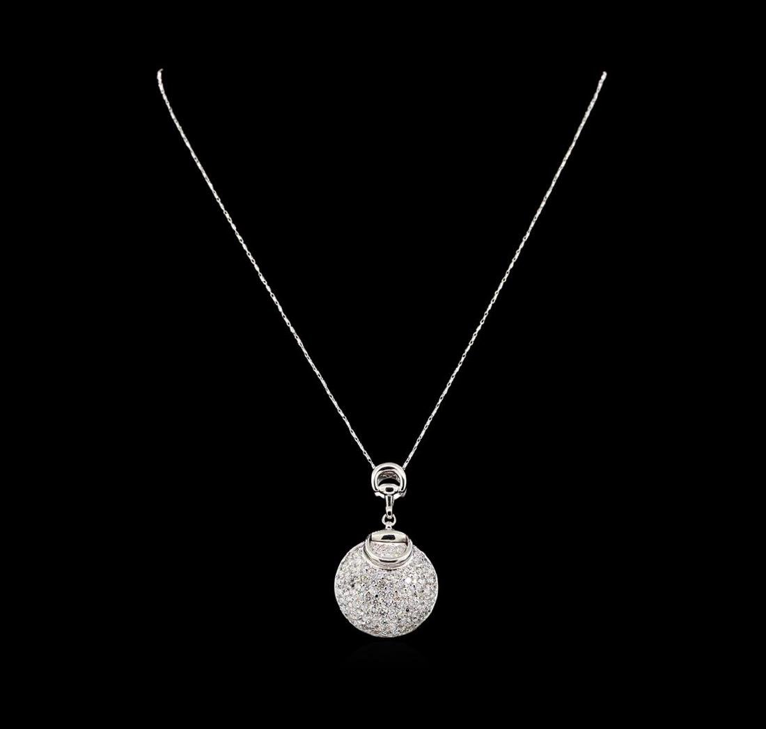14KT White Gold 2.75 ctw Diamond Pendant With Chain - 2
