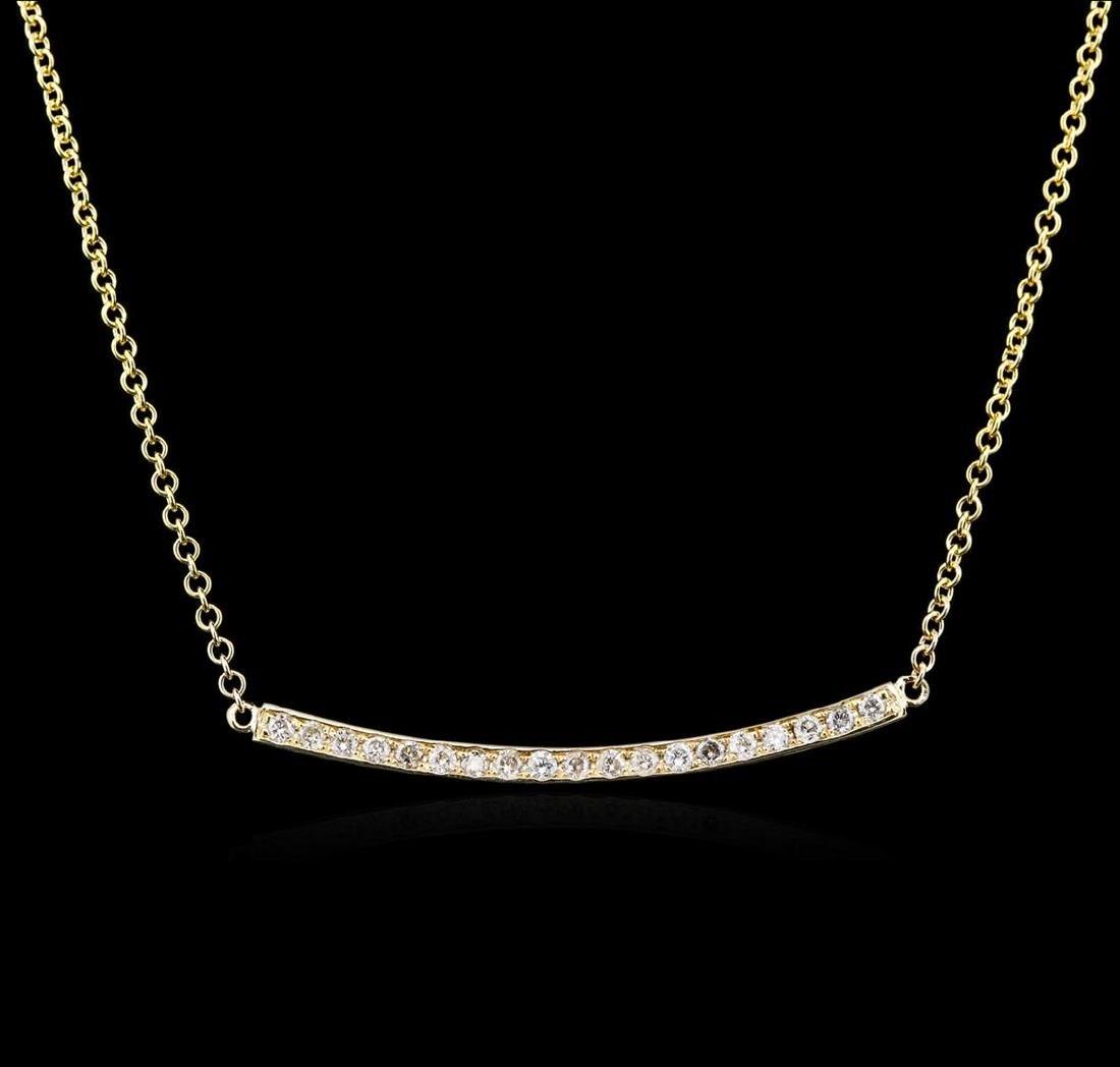 14KT Yellow Gold 0.84 ctw Diamond Necklace